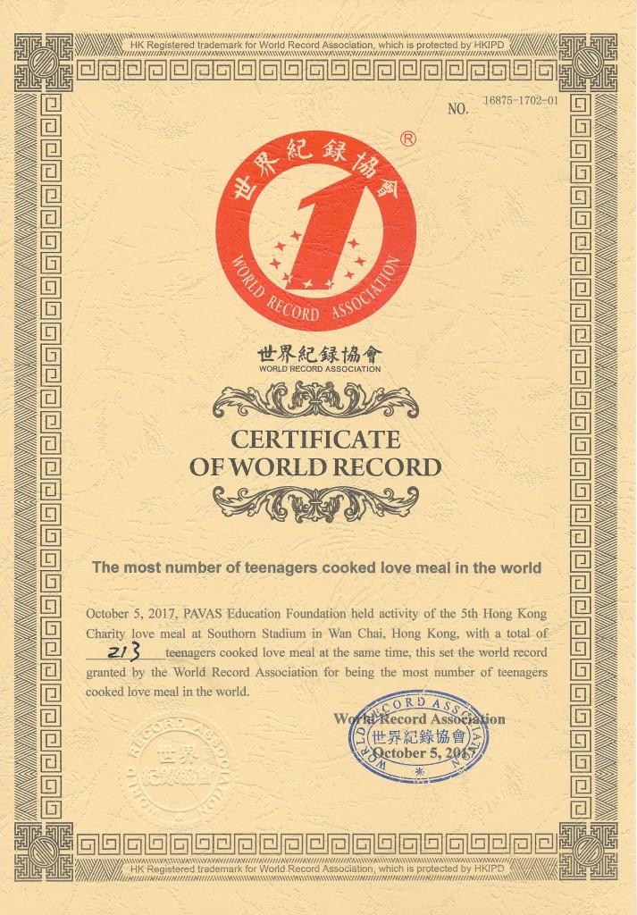 世界紀錄協會證書_E